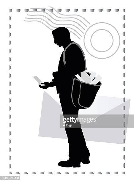 illustrations, cliparts, dessins animés et icônes de paper mail postman - facteur