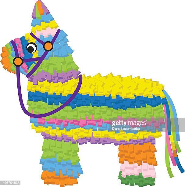 ilustrações, clipart, desenhos animados e ícones de piñata de papel - pinata