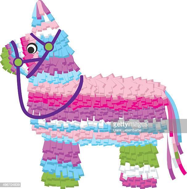 paper piñata - pinata stock illustrations