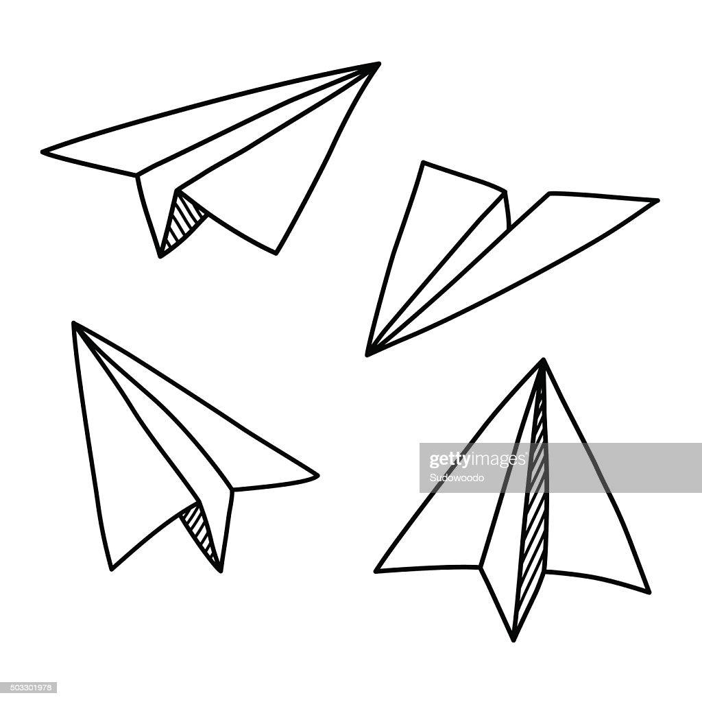 Paper plane doodles