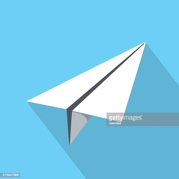 paper plane icon - paper airplane stock illustrations, clip art, cartoons, & icons