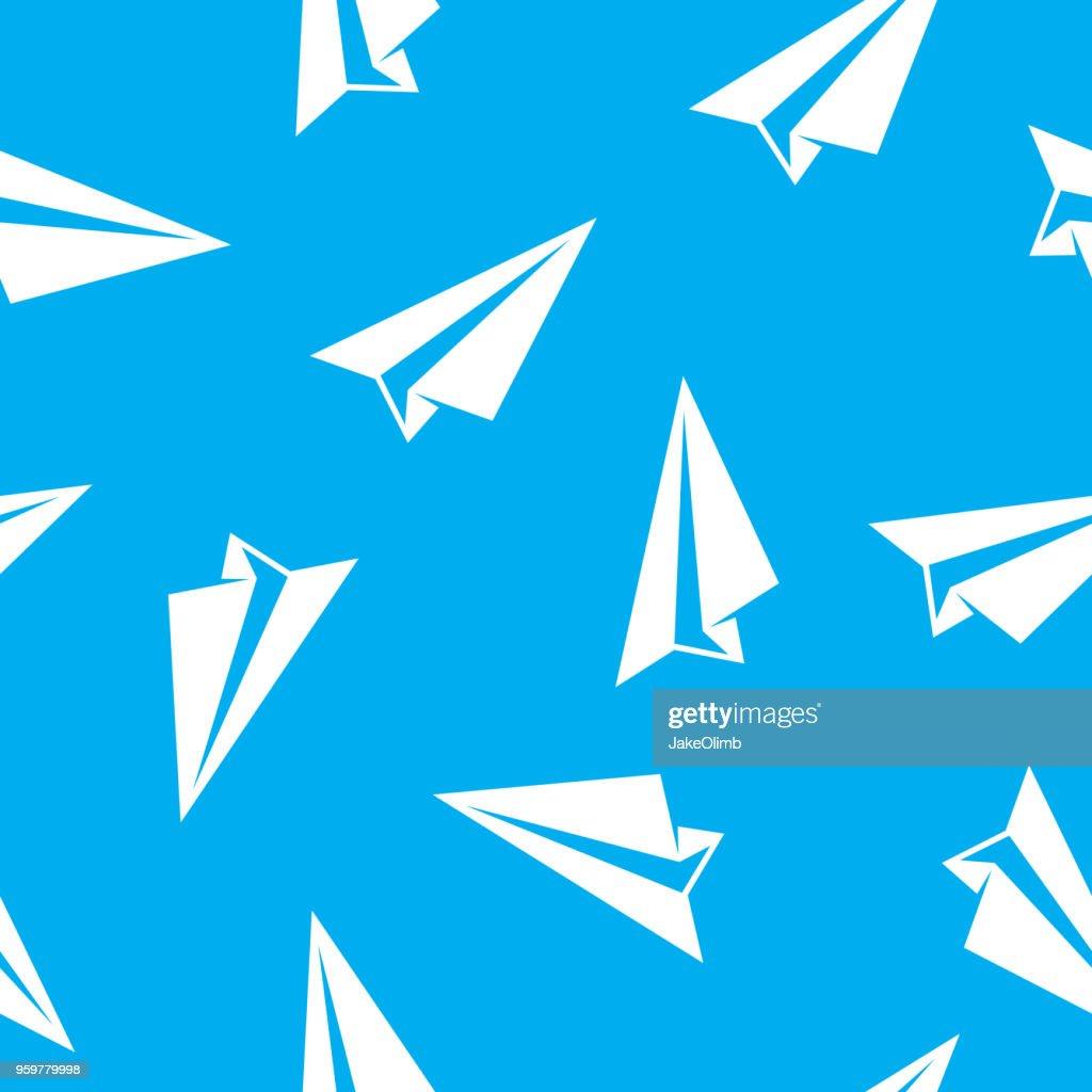Papier-Flugzeug-Muster : Stock-Illustration