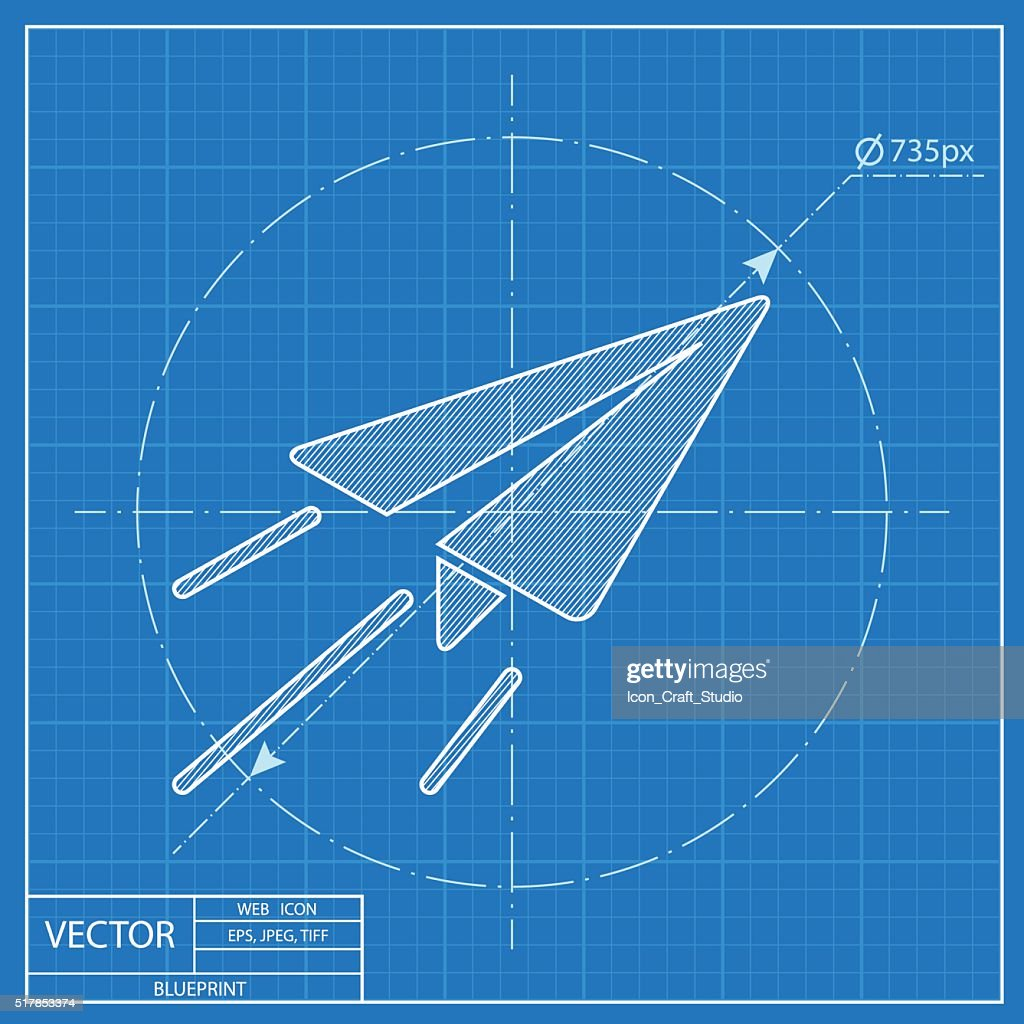 Paper plane sign airplane symbol travel vector blueprint icon vector paper plane sign airplane symbol travel vector blueprint icon vector art malvernweather Images
