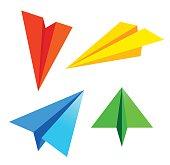Paper plane. Vector illustration .