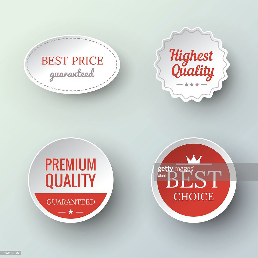 paper Premium Quality and Guarantee Labels