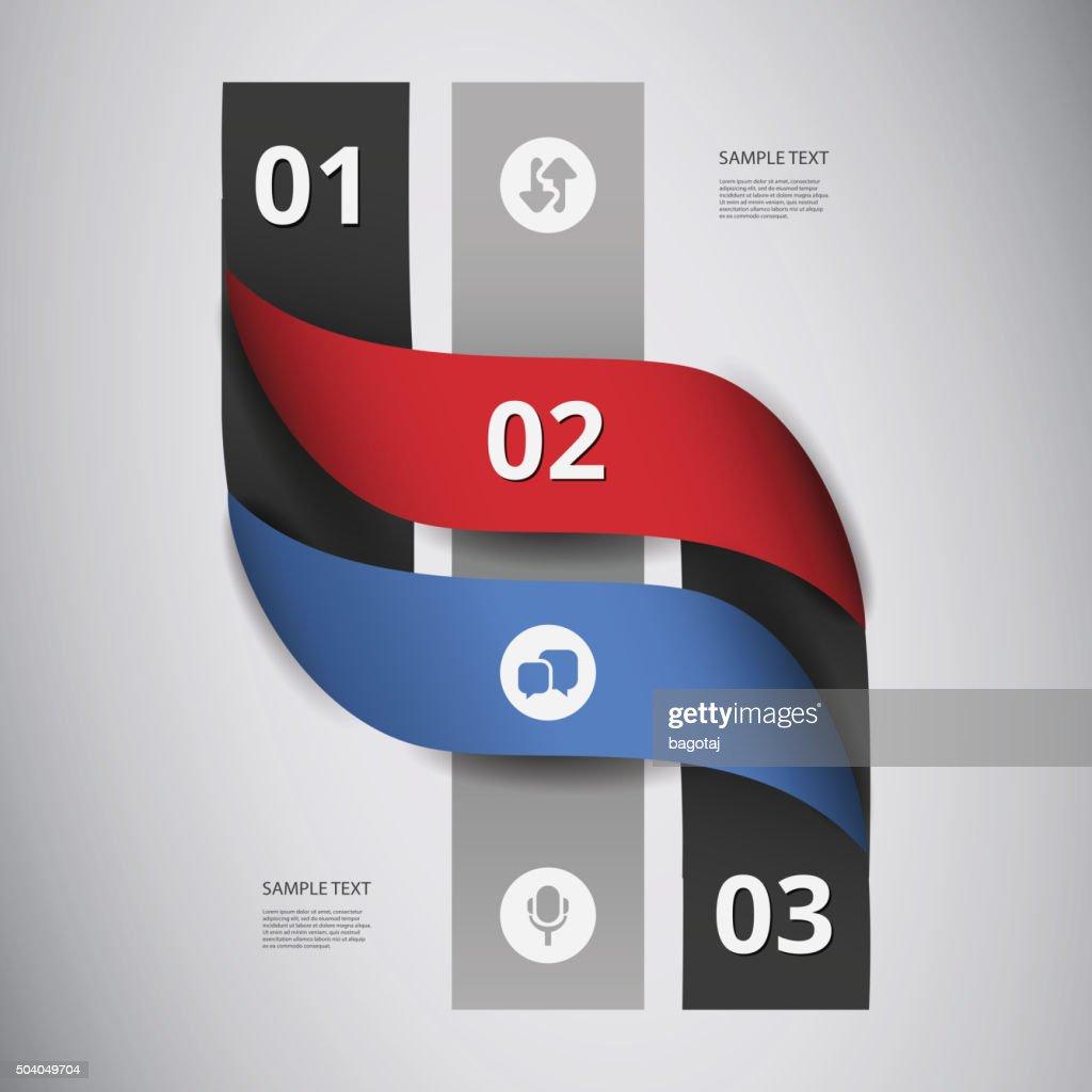 Paper Ribbons Infographics Design
