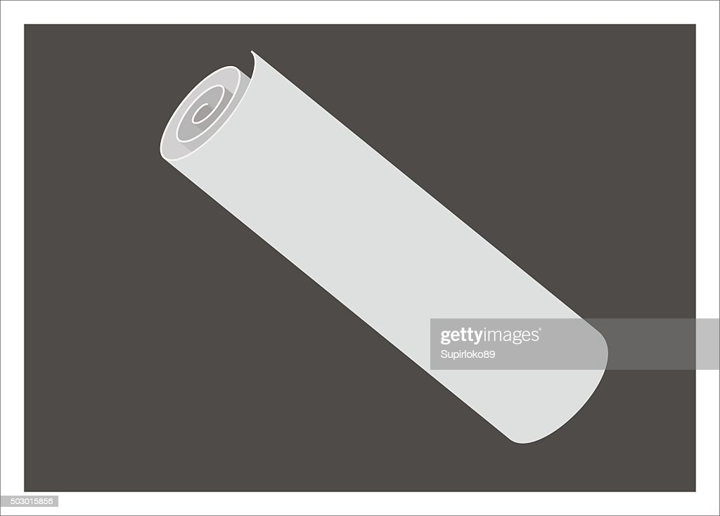 paper roll simple illustration