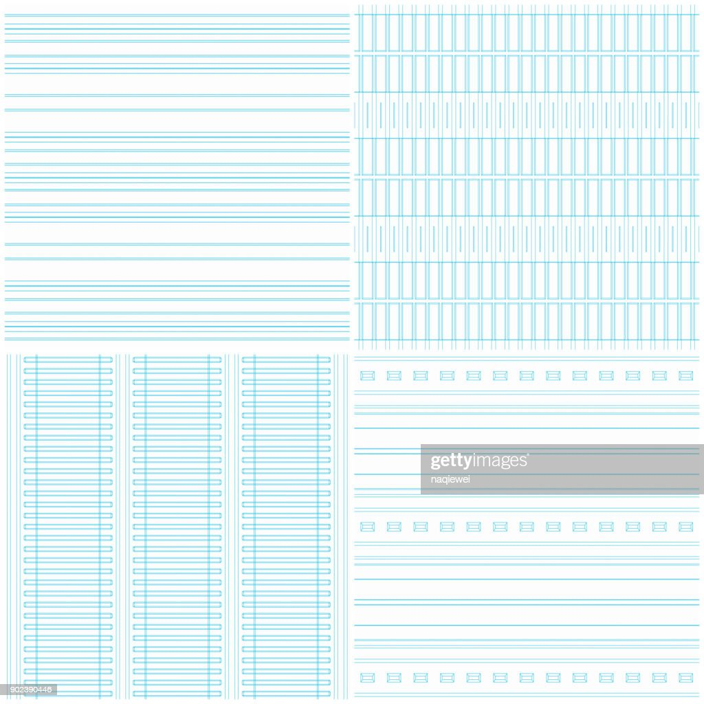 Paper Seamless Pattern Collection : stock illustration