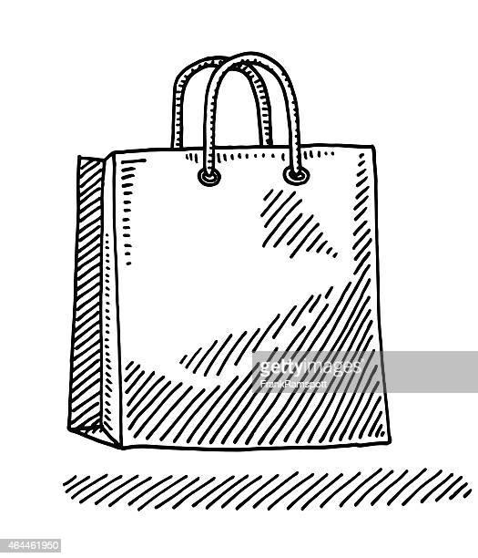illustrations, cliparts, dessins animés et icônes de sac en papier à dessin - sac