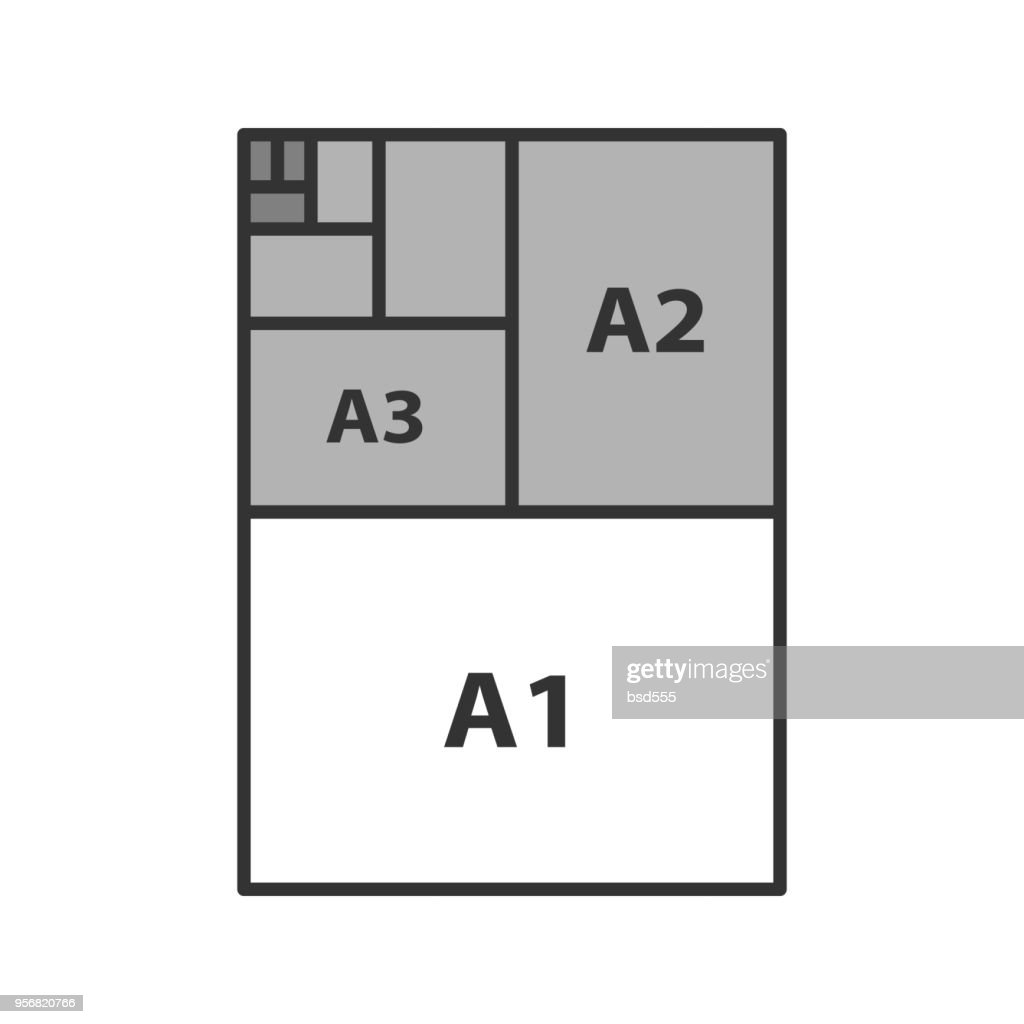 Paper sizes coor icon
