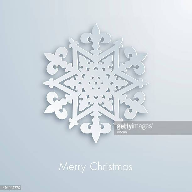 paper snowflake - illustration - cut or torn paper stock illustrations, clip art, cartoons, & icons