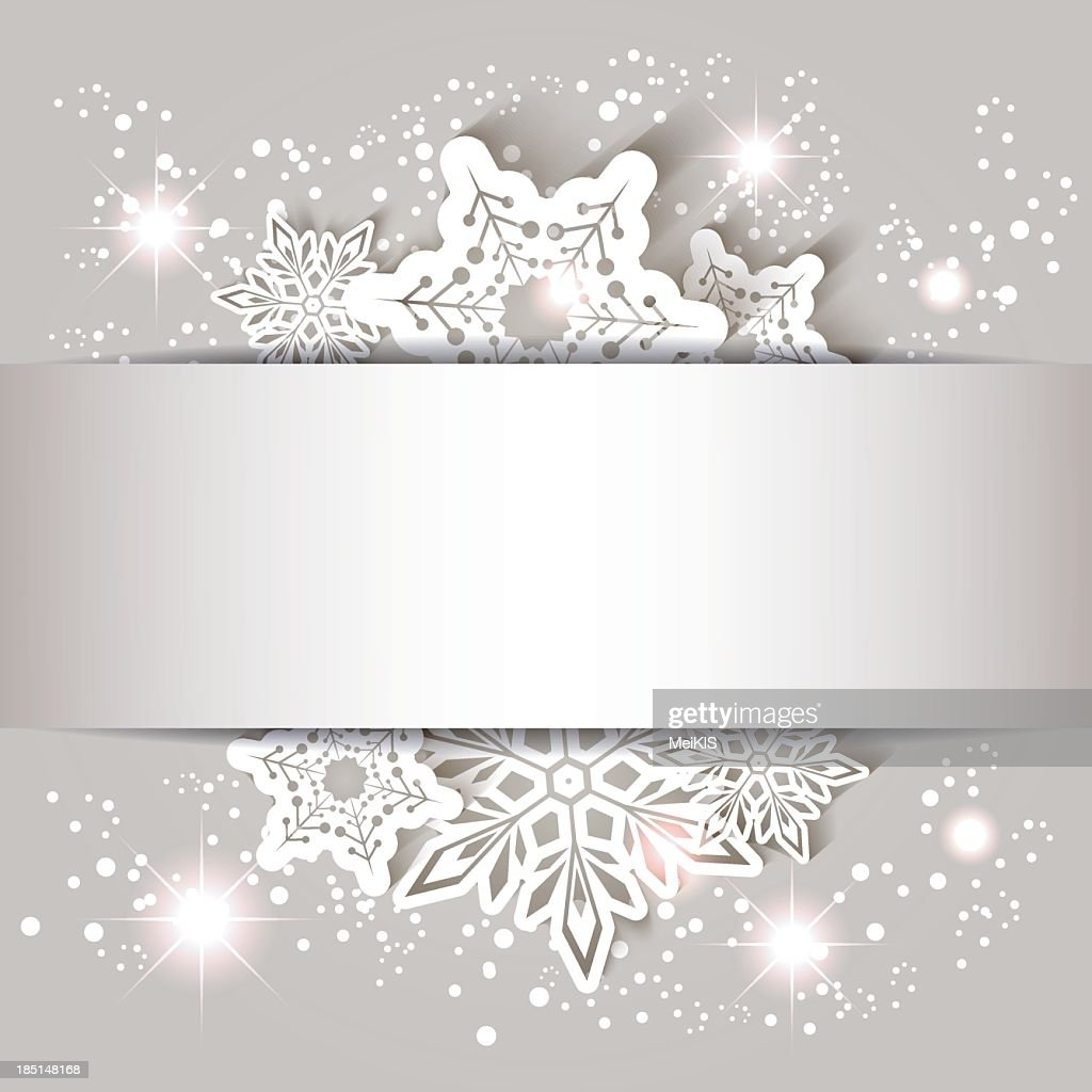 Paper snowflake on a Christmas card