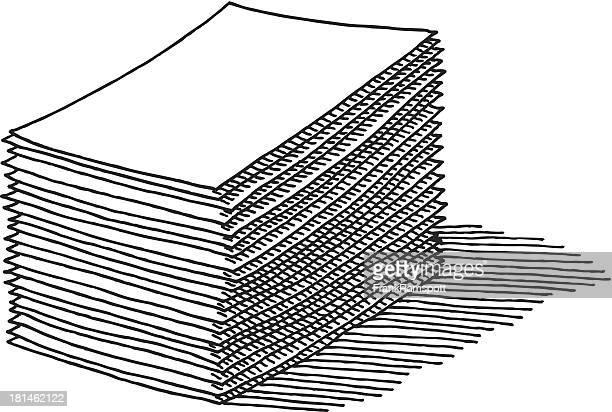 Papier Stapel Zeichnung