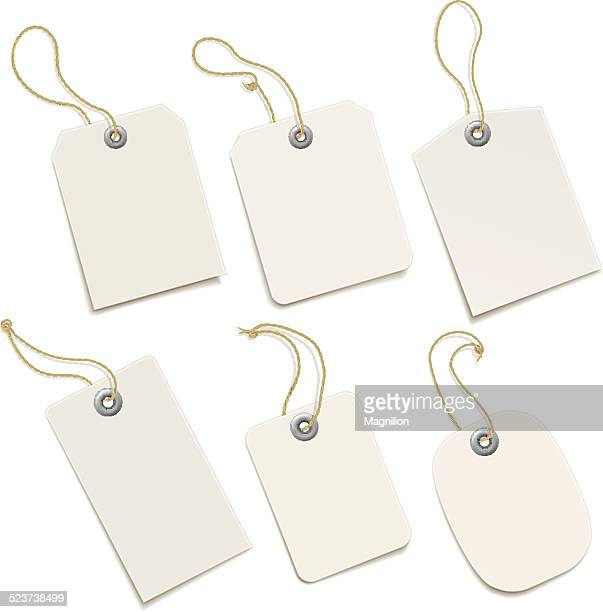 paper tags - luggage tag stock illustrations, clip art, cartoons, & icons