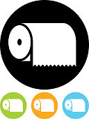 Paper towel vector icon isolated