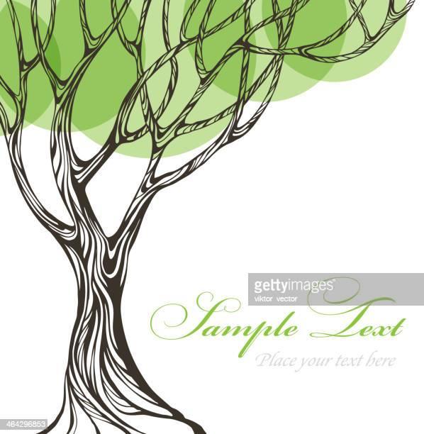 Paper tree. Vector illustration