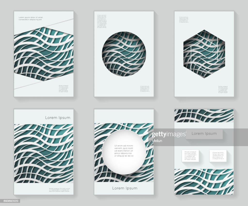 Papier Wellen 3d über Design Vorlage Bunte Abstrakte Design ...
