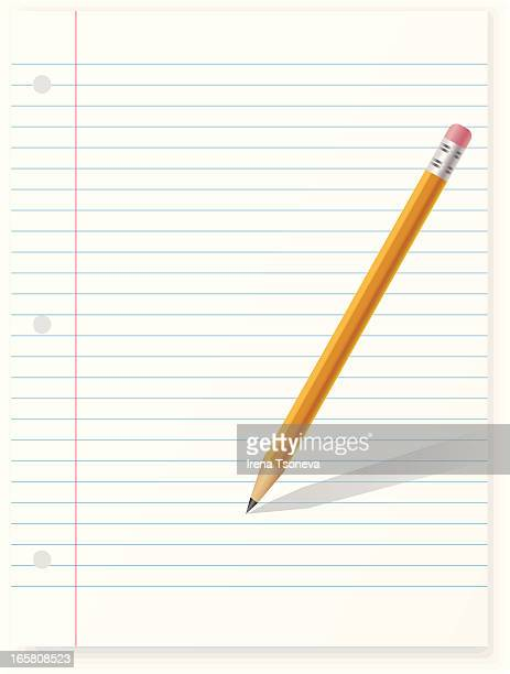 paper with pencil - shopping list stock illustrations, clip art, cartoons, & icons