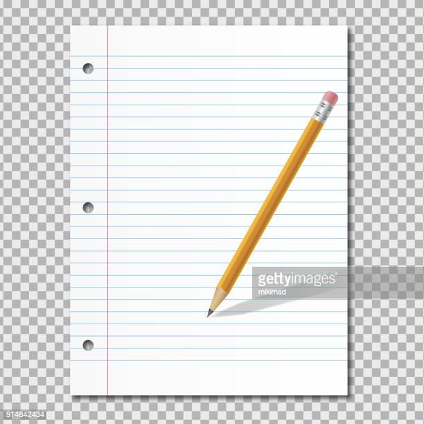 paper with pencil - to do list stock illustrations, clip art, cartoons, & icons