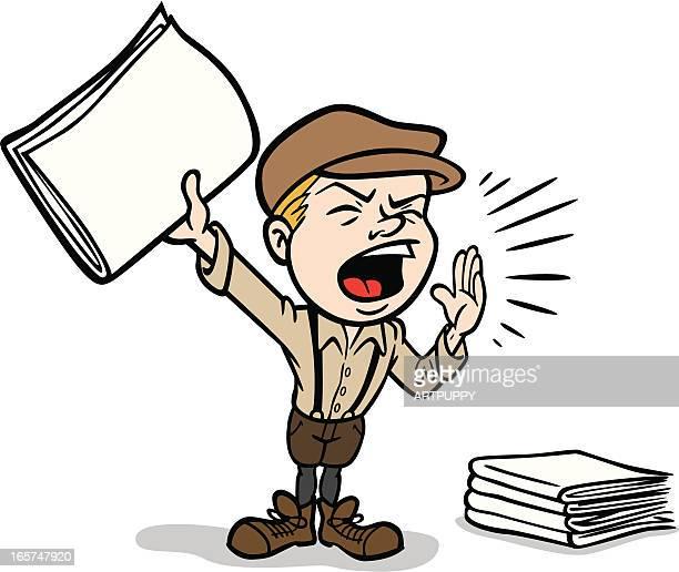 ilustrações, clipart, desenhos animados e ícones de paperboy - entregador
