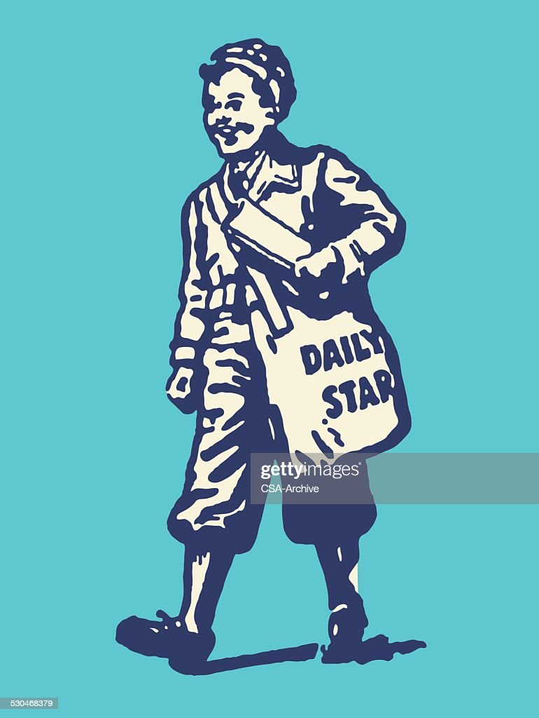Paperboy with Daily Star Bag