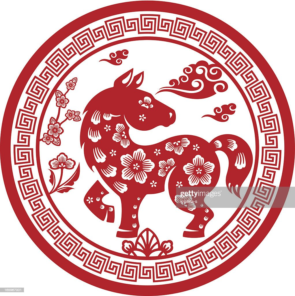 Papercut Chinese Zodiac sign - Horse
