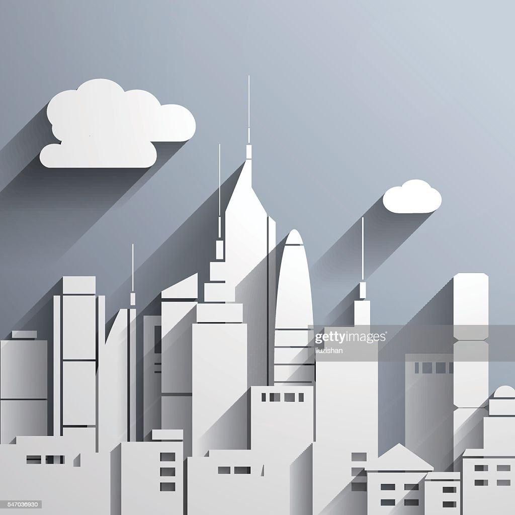 Paper-cut style city ,commercial illustration of vector.
