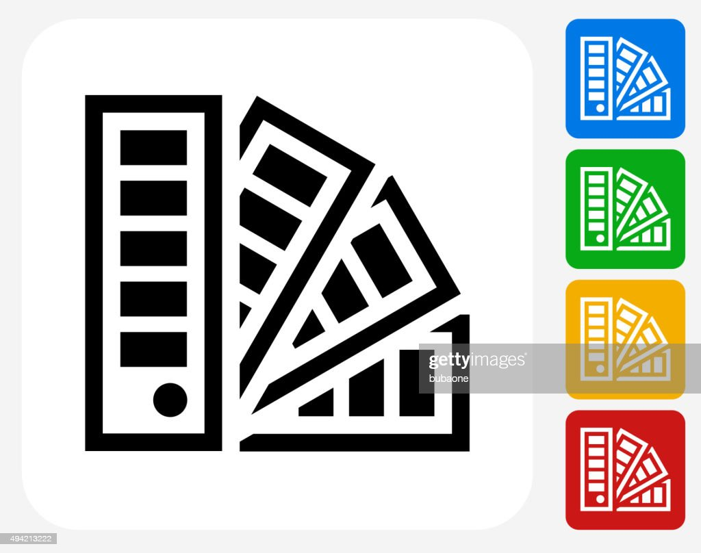 Papers Icon Flat Graphic Design