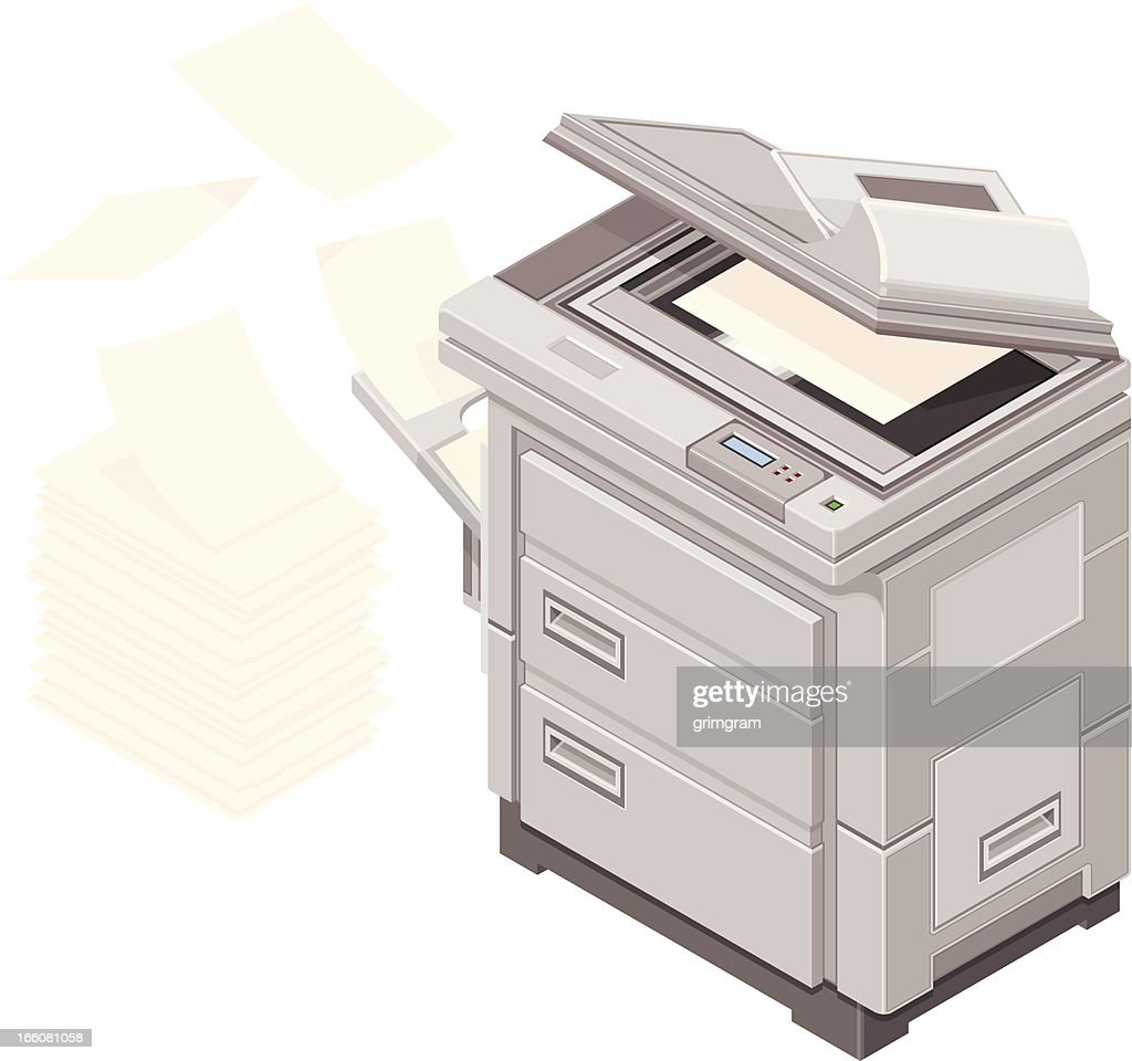 Paperwork and photocopier Icon