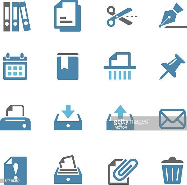 paperwork icons - conc series - filing cabinet stock illustrations, clip art, cartoons, & icons