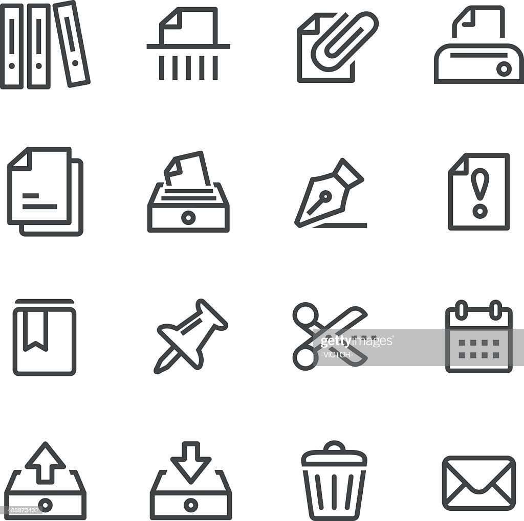 Paperwork Icons - Line Series