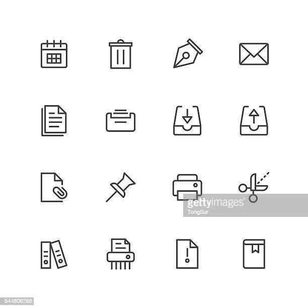 Paperwork icons