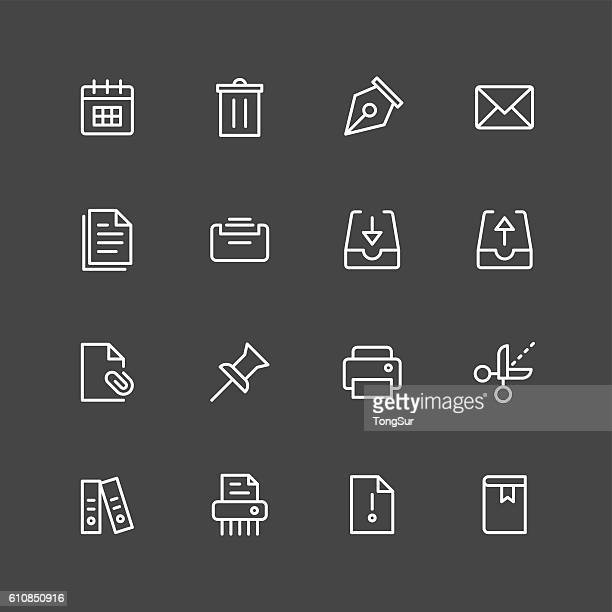 paperwork icons - white series - card file stock-grafiken, -clipart, -cartoons und -symbole