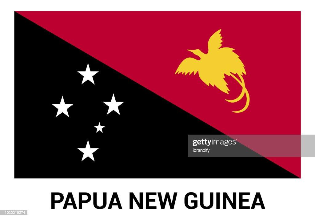 Papua New Guinea flags design vector