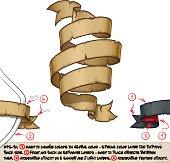 Papyrus Ribbons Triple Twirl