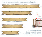 Papyrus Tittle Tag Five Sizes - Snake Tongue Edges