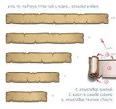 Papyrus Tittle Tag Five Sizes - Straight Edges