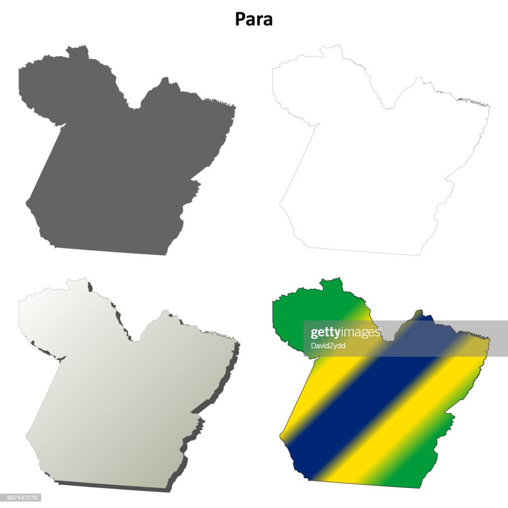 Para blank outline map set