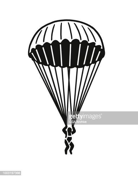 parachute jumper - paratrooper stock illustrations, clip art, cartoons, & icons