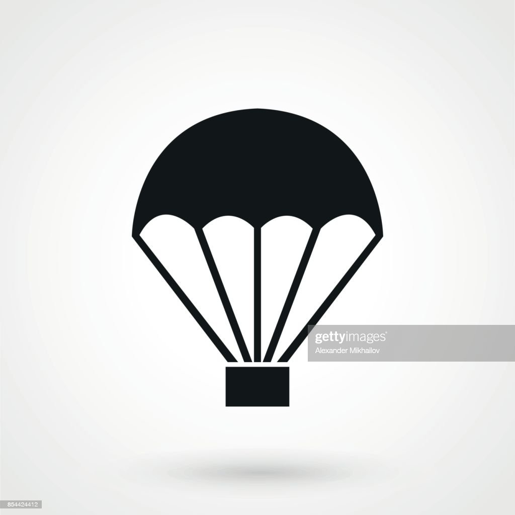 Parachute vector icon