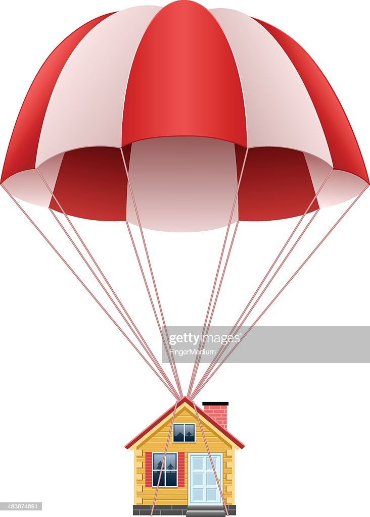 Parachute with house