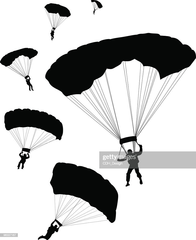 Parachuters ~ Vector