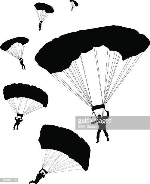 Illustrations et dessins anim s de parachute getty images - Dessin parachutiste ...