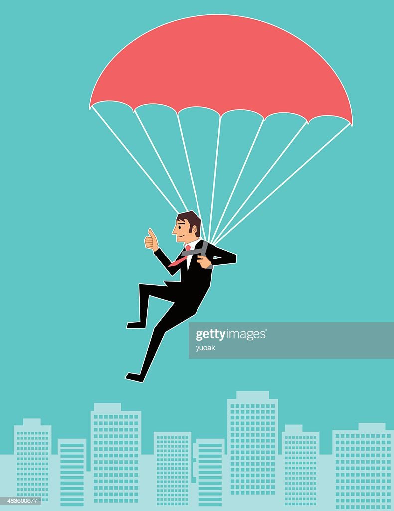 Parachuting businessan