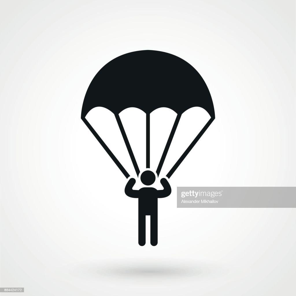 Parachutist icon.