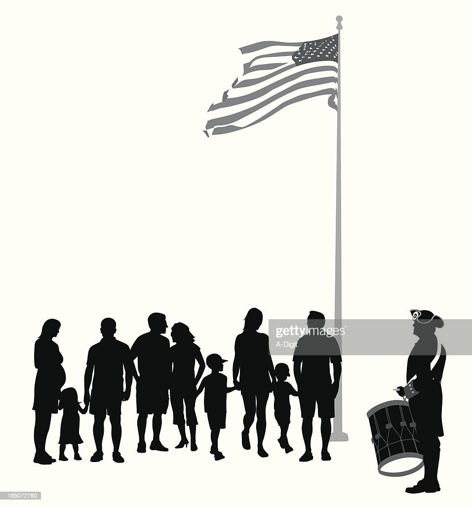 Parade Vector Silhouette : stock illustration