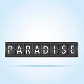 Paradise departure board