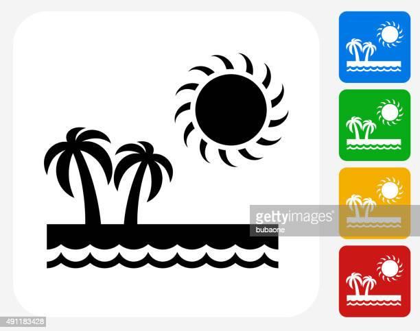 paradise icon flat graphic design - lancaster county pennsylvania stock illustrations, clip art, cartoons, & icons