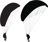Paraglider before taking off