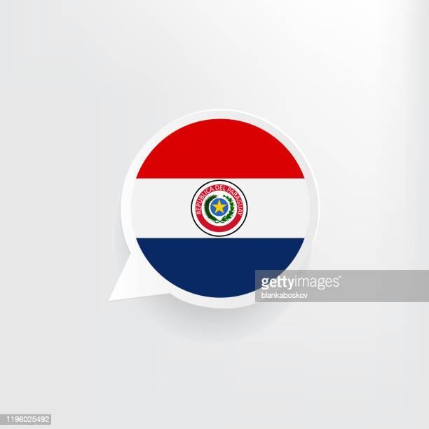 paraguay flag speech bubble - paraguay stock illustrations